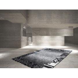 Tapis rectangle contemporain pour salon anthracite Bohème