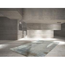 Tapis abstrait rectangulaire pour salon taupe Rialto