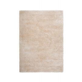 Tapis ivoire en polyester moelleux Calypso