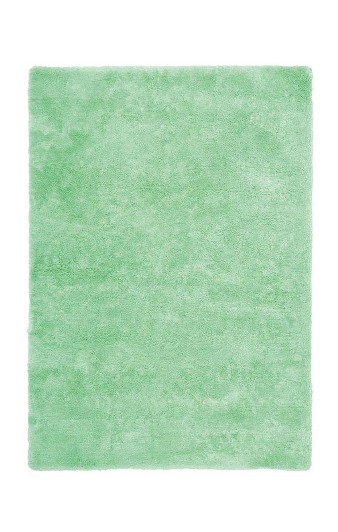 Tapis vert en polyester moelleux Calypso