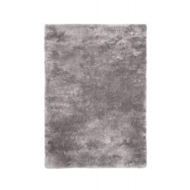 Tapis argenté en polyester moelleux Calypso