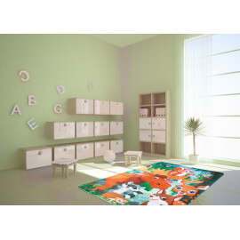 Tapis lavable en machine multicolore Forest