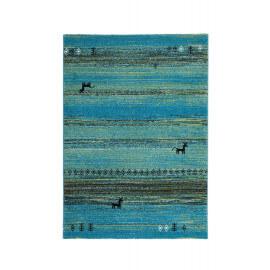 Tapis turquoise ethnique vintage d'intérieur Mistik