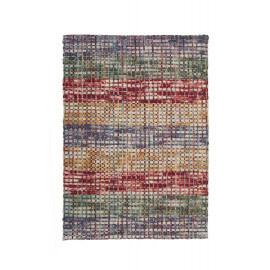 Tapis tissé main en laine feutrée multicolore Mellow