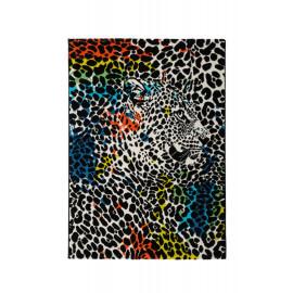 Tapis en forme de léopard à courtes mèches Filbert