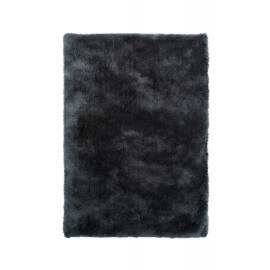 Tapis shaggy uni en polyester graphite Waffle