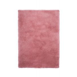 Tapis shaggy uni en polyester rose Waffle