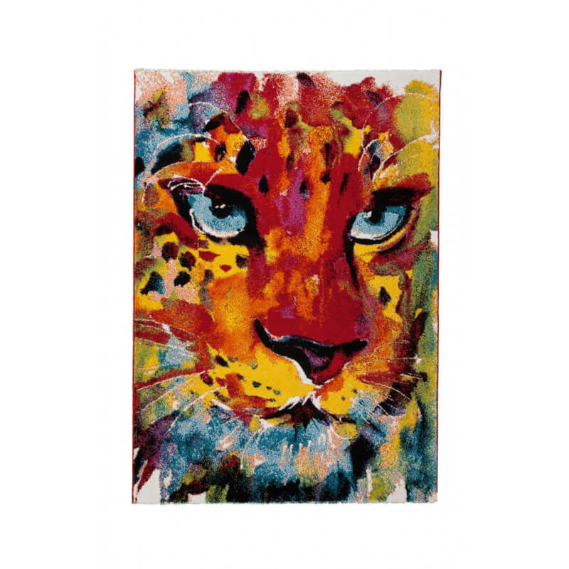 tapis design pour salon multicolore vivo