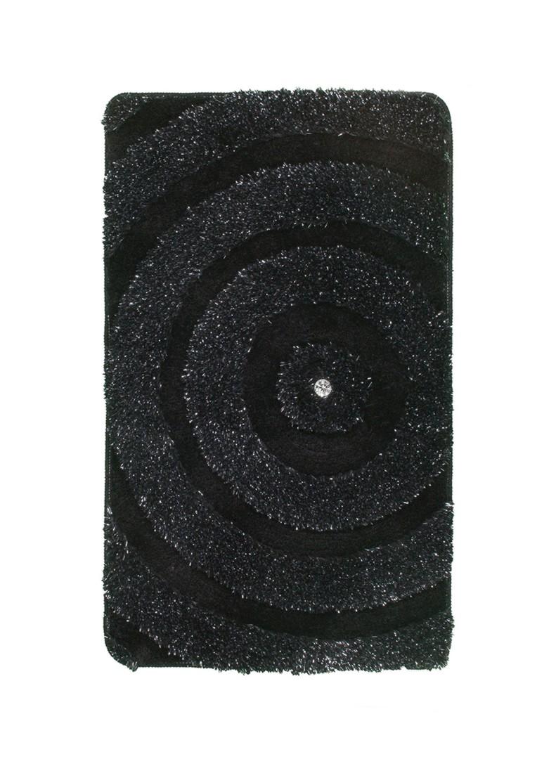 tapis de bain brillant noir lavable en machine kee. Black Bedroom Furniture Sets. Home Design Ideas