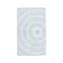 Tapis de bain brillant blanc lavable en machine Kee