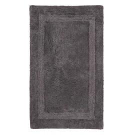 Tapis de salle de bain anthracite en coton Stava