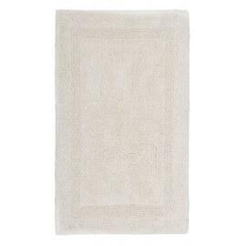 Tapis de salle de bain crème en coton Stava