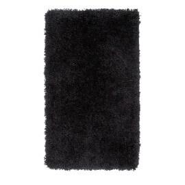 Tapis de douche à longues mèches noir Cesar