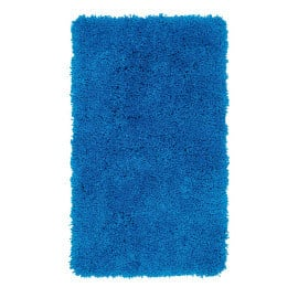 Tapis de douche à longues mèches bleu Cesar