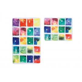 Ensemble de tapis de toilette et bain multicolore en polyester Griotte