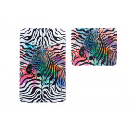 Ensemble de tapis de toilette et bain multicolore en polyester Zip
