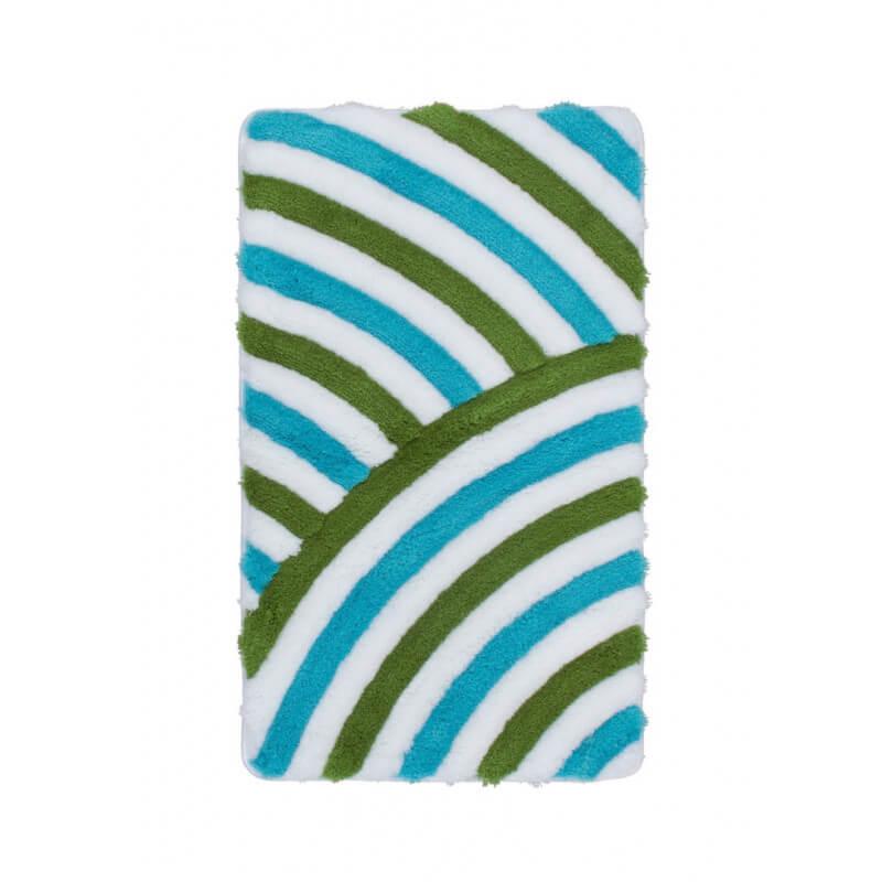 tapis de salle de bain tuft turquoise lavable en machine. Black Bedroom Furniture Sets. Home Design Ideas