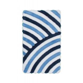 Tapis de salle de bain tufté bleu lavable en machine Toundra