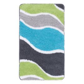 Tapis de douche en polyester doux turquoise Riviera
