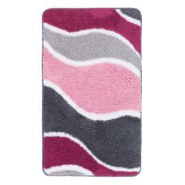 Tapis de douche en polyester doux rose Riviera
