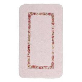 Tapis de salle de bain rose lavable en machine doux Candy