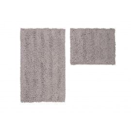 Ensemble de tapis de toilette et bain taupe lavable en machine Double Sonora
