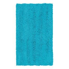 Tapis de bain turquoise lavable en machine Sonora
