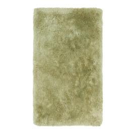 Tapis shaggy pour salle de bain vert lavable en machine Venezia
