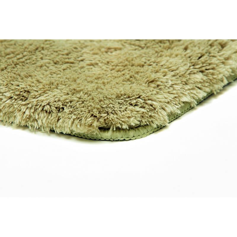 Tapis shaggy pour salle de bain vert lavable en machine for Grand tapis lavable en machine
