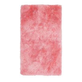 Tapis shaggy pour salle de bain rose lavable en machine Venezia