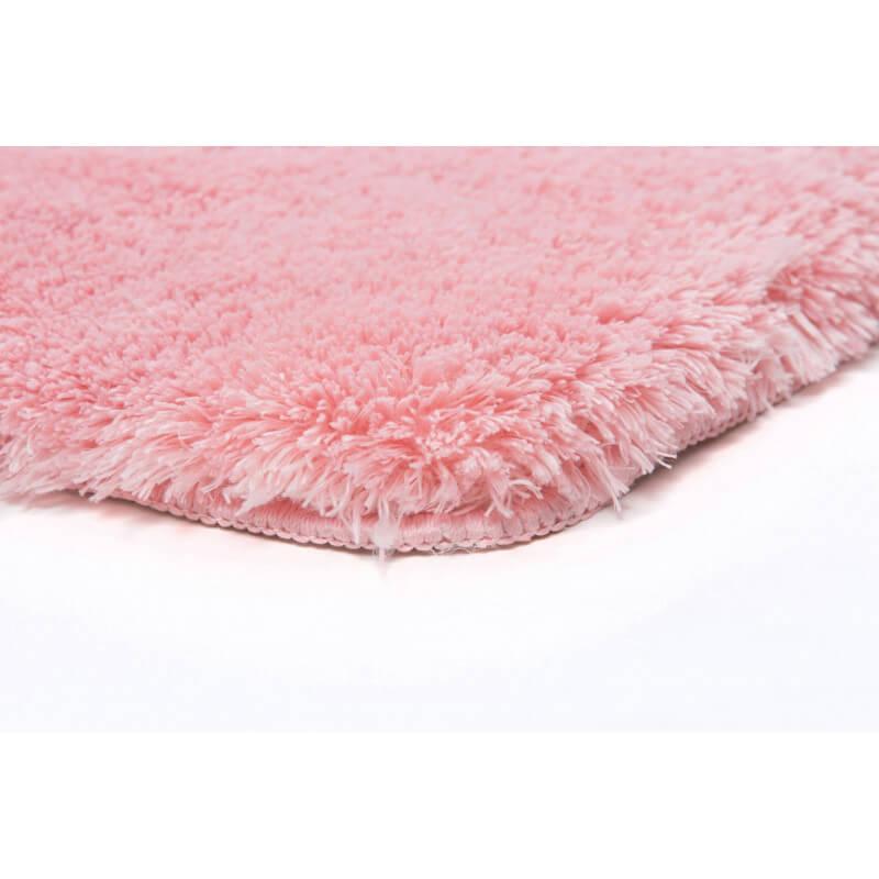tapis shaggy pour salle de bain rose lavable en machine. Black Bedroom Furniture Sets. Home Design Ideas