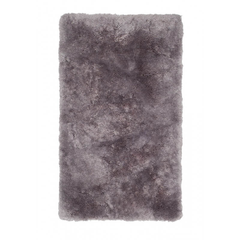 Tapis shaggy pour salle de bain argent lavable en machine for Grand tapis lavable en machine