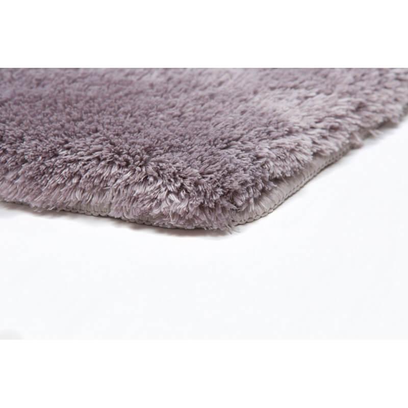 tapis shaggy pour salle de bain argent lavable en machine. Black Bedroom Furniture Sets. Home Design Ideas