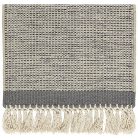 Tapis en laine avec franges beige Hyro