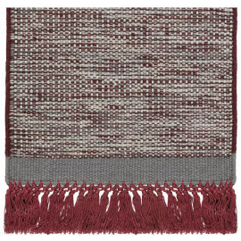 Tapis en laine avec franges rouge Hyro