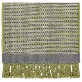 Tapis en laine avec franges vert Hyro