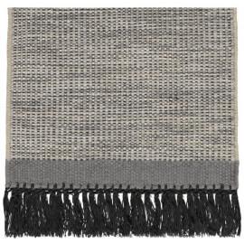 Tapis en laine avec franges noir Hyro