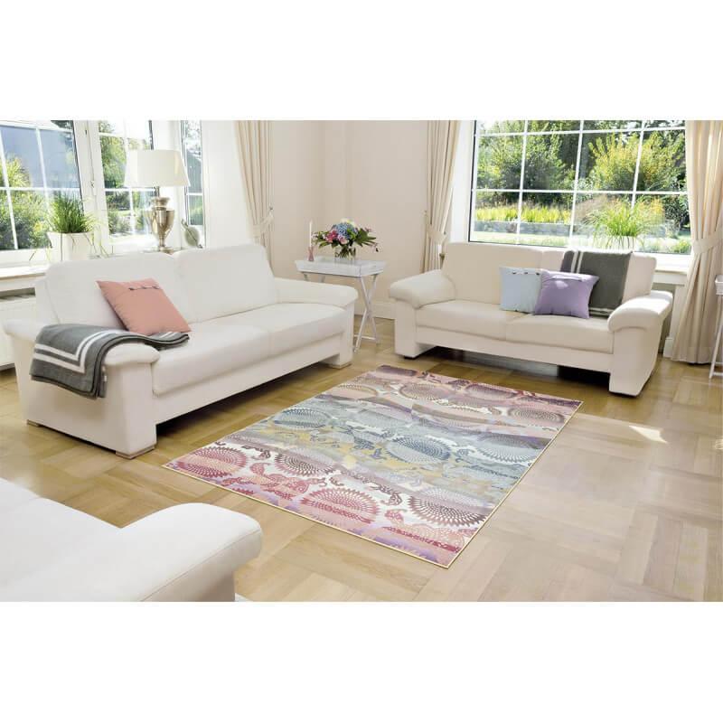 tapis color moderne pour salon adamo. Black Bedroom Furniture Sets. Home Design Ideas