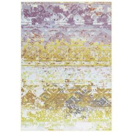 Tapis plat vintage en polyester jaune Sophia