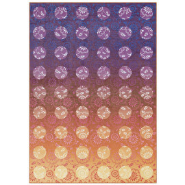 Tapis orange de salon plat Alabama