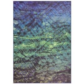 Tapis en polyester plat vert Tamara