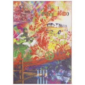 Tapis moderne multicolore en polyester Ontario