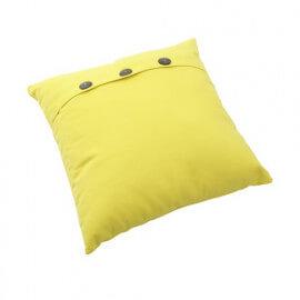 Coussin en coton jaune fait main Maria