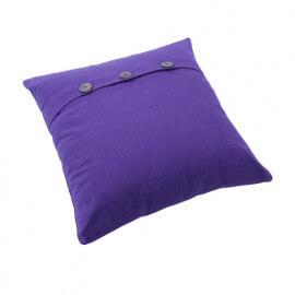 Coussin en coton violet fait main Maria