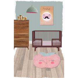 Tapis en forme de pomme rose en coton Candy Apple Nattiot