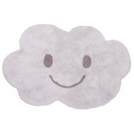 Tapis enfant lavable en machine gris en coton Nimbus Nattiot