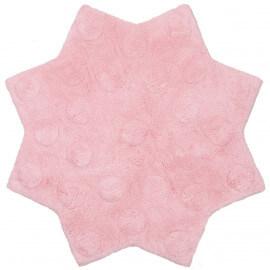 Tapis en coton pour enfant rose Little Stella Nattiot
