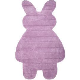 Tapis tufté main en coton pour enfant parme Bunny Nattiot