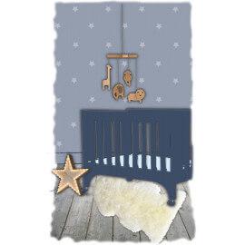 Peau de mouton blanc pour chambre enfant Douchka Nattiot