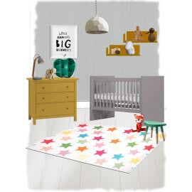 Tapis enfant multicolore en polypropylène Holly Nattiot